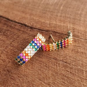 Brinco Earhook Rainbow 3 fileiras