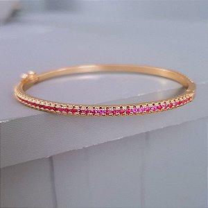 Pulseira Riviera 360° Pink Gold