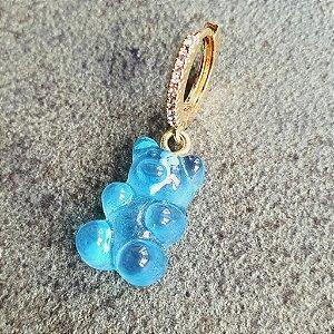Pingente Gummy Azul Gold