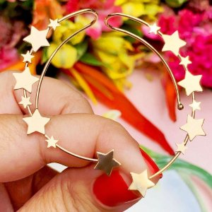 Brinco Earcuff Star Gold