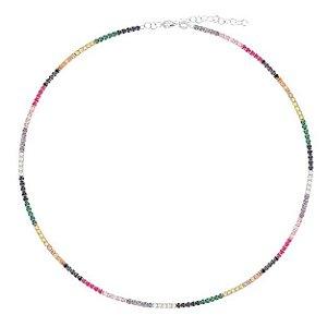Colar Chocker Riviera Silver Rainbow