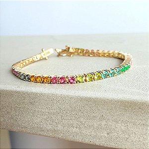 Pulseira Riviera Rainbow Gold