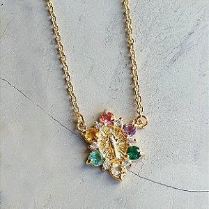 Colar Mini Nossa Senhora Colors Gold