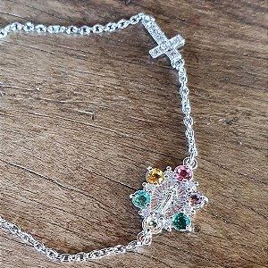 Pulseira Mini Nossa Senhora Cruz Silver