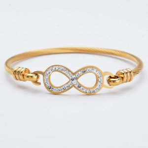 luxo Infinito Amor Do Coração Bracelet & Pulseiras