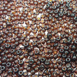 Miçanga Transparente Marrom 10140 - Preciosa