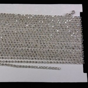 Strass em Corrente Base Plástica Cristal - Tcheca