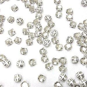 Engrampado Caixa Baixa Prata Cristal - Tcheco