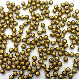 Conta Facetada Ouro Verde 01720