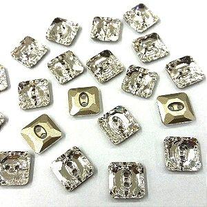 Botão Quadrado 3017 Cristal - Swarovisk