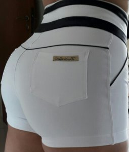 Short Branco Americano