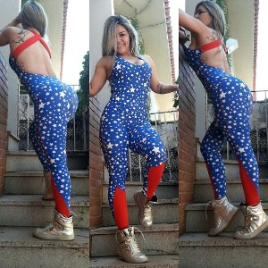 Macacão Estrelas super mulher