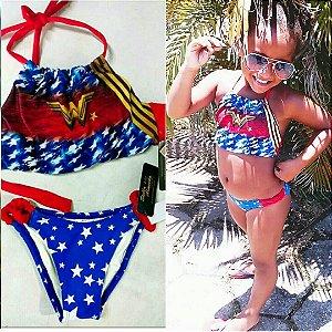 Biquíni Super Menina infantil