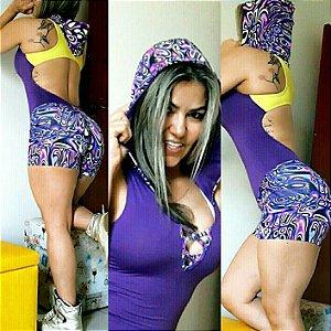 Macaquinho Capuz Purple