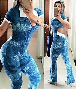 Macacão flare Fake Jeans