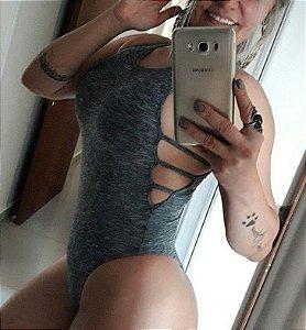 Body Delicadence Cinza Mescla