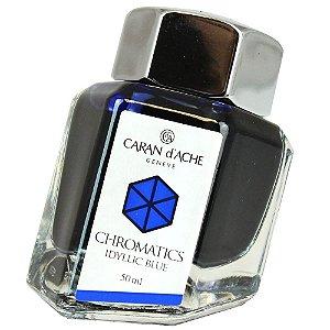 Tinta P/ Caneta Tinteiro Chromatics Idyllic Blue 50 Ml Caran D'ache 8011.140