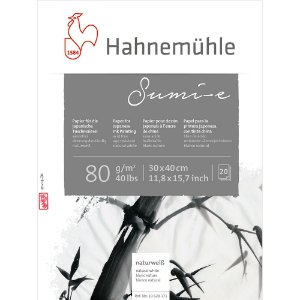 Bloco sumi-e 30x40cm 80g/m² 20 fls hahnemuhle 10628371