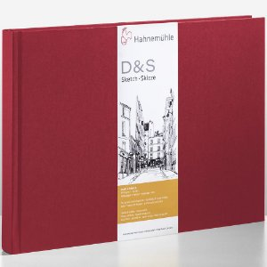 Sketch book D&S A4 Vermelho 140g/m² Paisagem 80 fls Hahnemuhle