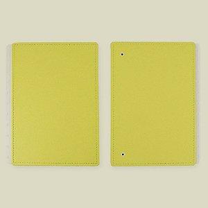 Capa E Contracapa Caderno Inteligente All Yellow Médio
