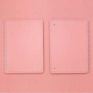 Capa E Contracapa Caderno Inteligente Rose Pastel Médio