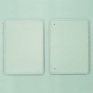 Capa E Contracapa Caderno Inteligente Verde Pastel A5