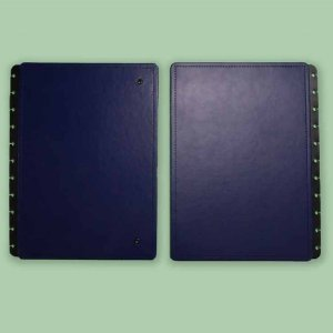 Capa E Contracapa Caderno Inteligente Dark Blue Grande