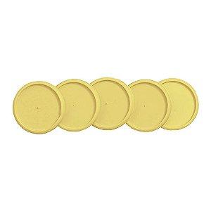 Discos + Elástico 23mm Amarelo Cerrado Médio Caderno Inteligente