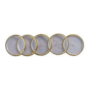 Discos + Elástico 23mm Dourado Médio Caderno Inteligente