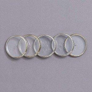 Discos + Elástico 23mm Prata Médio Caderno Inteligente