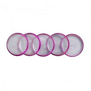 Discos+Elástico 23mm Rosa Metálico Médio Caderno Inteligente