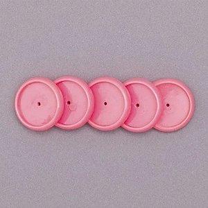 Discos + Elástico 23mm Rosa Neon Médio Caderno Inteligente