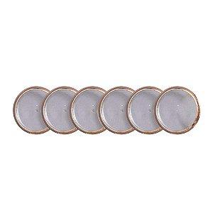 Discos + Elástico 23mm Rose Gold Médio Caderno Inteligente