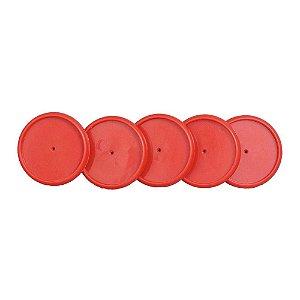 Discos+Elástico 23mm Vermelho Médio Caderno Inteligente