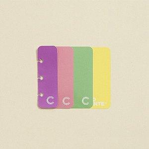 Marcador De Página Caderno Inteligente C/4 Unidades Colorido