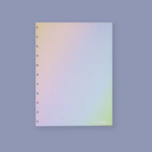 Refil Rainbow Pautado A5 30Fls 120G Caderno Inteligente