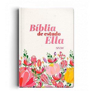 Bíblia De Estudo Ella Nvi - Capa Flores