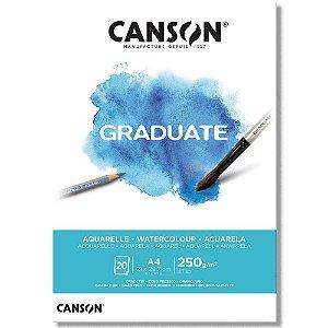 Bloco Canson Graduate Aquarelle A4 250g/m² com 20 Folhas