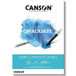 Bloco Canson Graduate Aquarelle A5 250g/m² com 20 folhas
