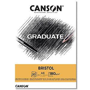 Bloco Canson Graduate Bristol A3 180g/m² com 20 Folhas