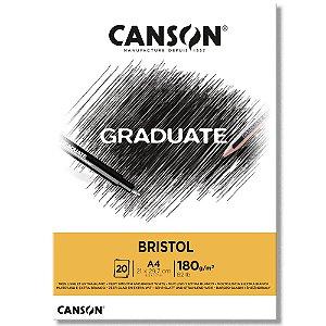 Bloco Canson Graduate Bristol A4 180g/m² com 20 Folhas