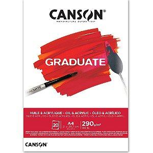 Bloco Canson Graduate Óleo E Acrílico A4 290g/m² com 20 Folhas