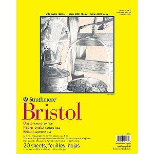 Bloco Strathmore Bristol Smooth Série 300 27,9x35,6cm 270g/m² com 20 Folhas
