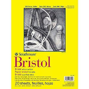 Bloco Strathmore Bristol Vellum Série 300 22,9x30,5cm 270g/m² com 20 Folhas