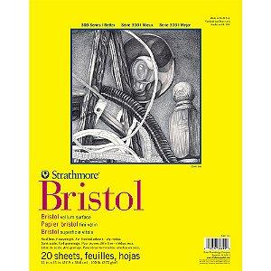 Bloco Strathmore Bristol Vellum Série 300 27,9x35,6cm 270g/m² com 20 Folhas