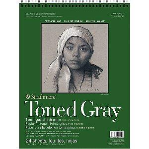 Bloco Strathmore Toned Gray Sketch 27,9x35,6cm 118g/m² 24 Folhas Espiral