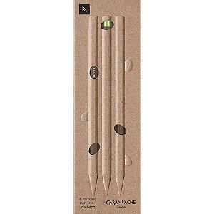 Lápis Grafite Hb Caran D'Ache Nespresso Swiss Wood com 3 Unidades