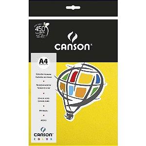 Papel Colorido A4 Canson Color Amarelo Canário 180g/m² 10 Folhas