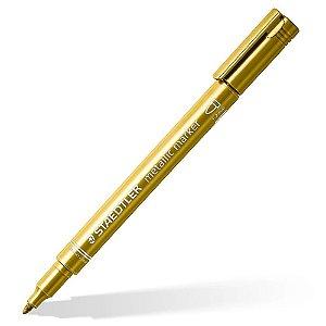 Caneta Marcador Staedtler Metálico Dourado Gold
