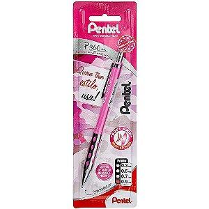 Lapiseira Pentel P360 0.9mm Rosa